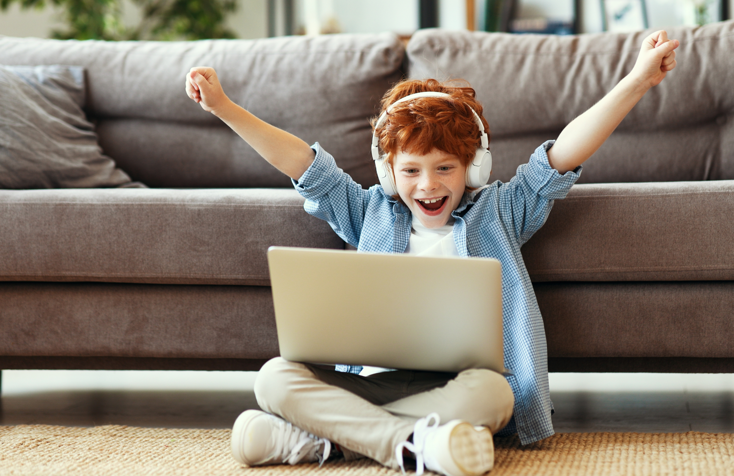 Happy Child Using Team Tutti